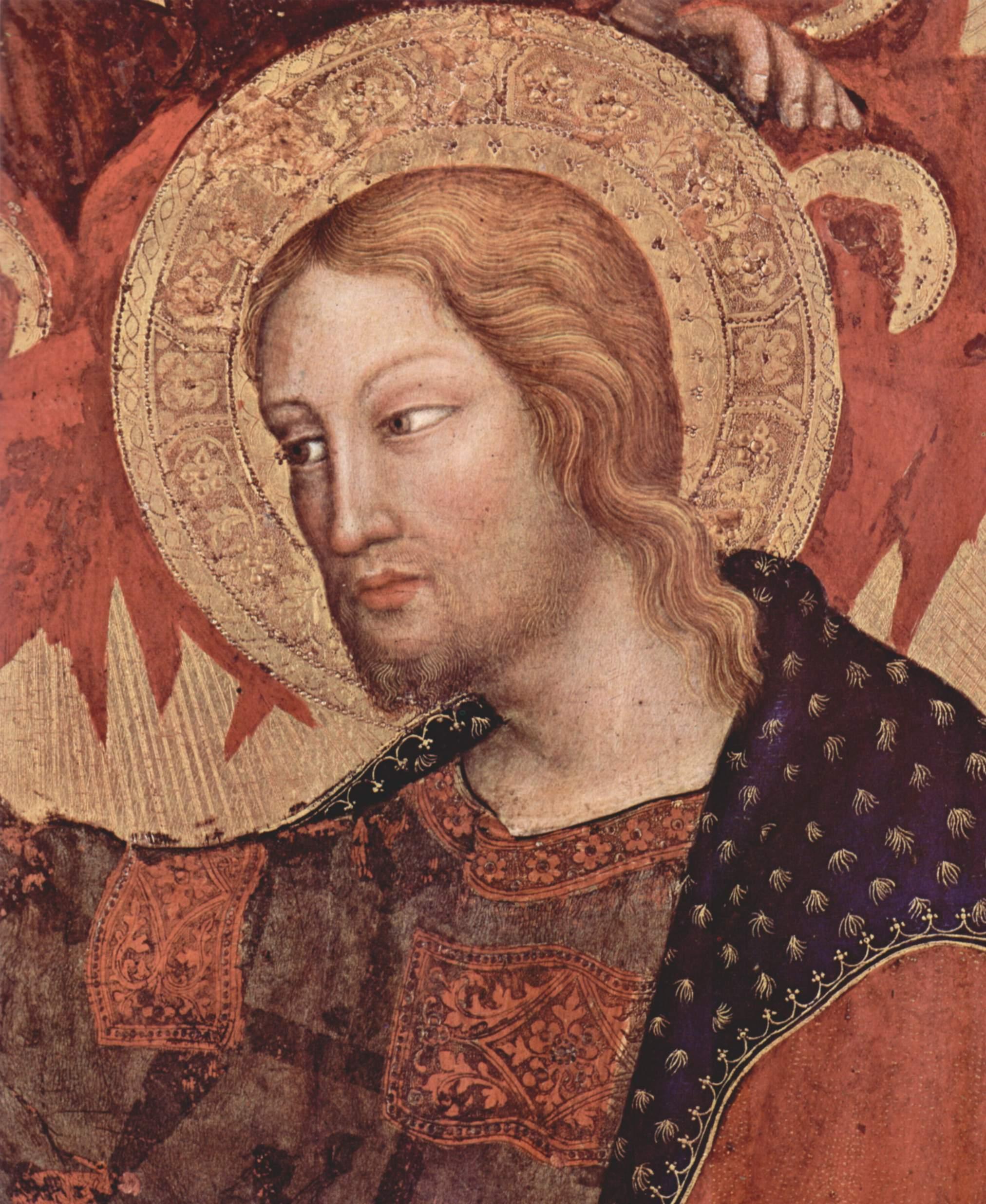 Коронование Марии [08], центральная часть. Коронование Марии. Фрагмент. Христос, Джентиле да Фабриано