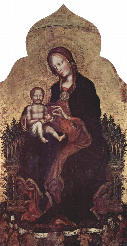 Мадонна с ангелами, Джентиле да Фабриано