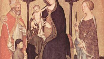Мадонна со Святым Николаем Мирликийским, Святой Екатериной Александрийской и донатором