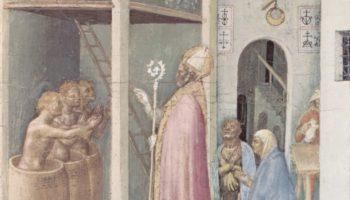 Полиптих Кваратези [14]. Пять пределл со сценами чудес из жизни св. Николая из Бари. Воскрешение тре