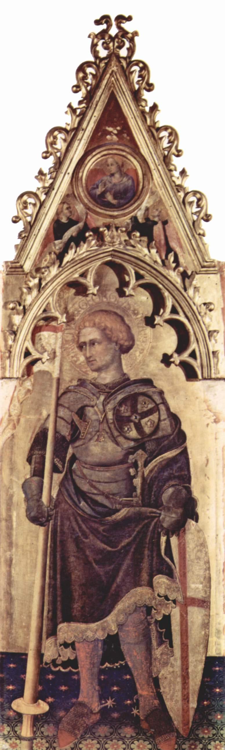 Полиптих Кваратези [11], боковая доска. св. Георгий, Джентиле да Фабриано