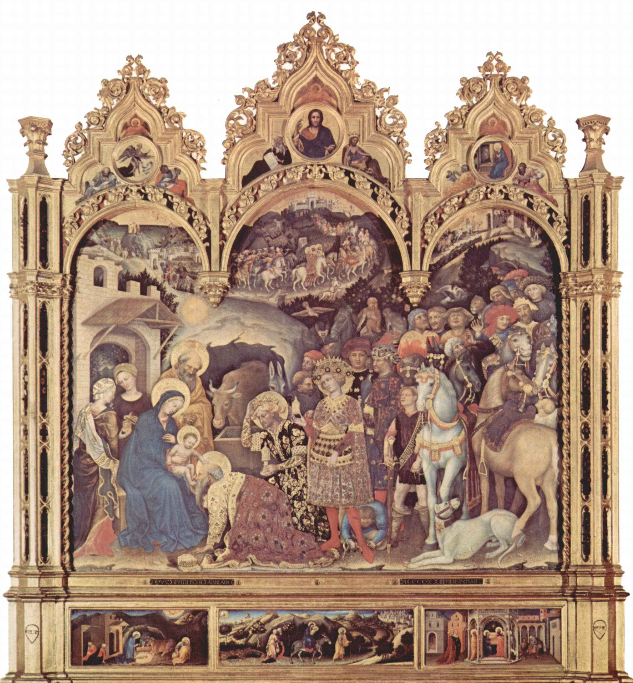 Поклонение волхвов, общий вид, Джентиле да Фабриано