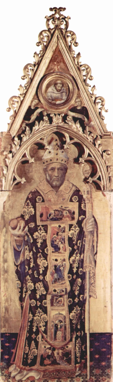 Полиптих Кваратези [03], боковая доска. св. Николай из Бари, Джентиле да Фабриано