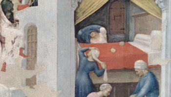 Приданое для бедных девиц (Святой Николай бросает золотые шары в темницу бедным девушкам)