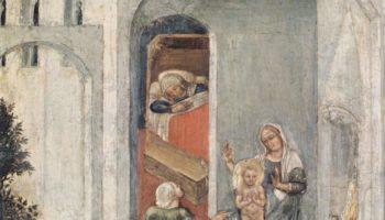 Полиптих Кваратези [12]. Пять пределл со сценами чудес из жизни св. Николая из Бари. На третий день