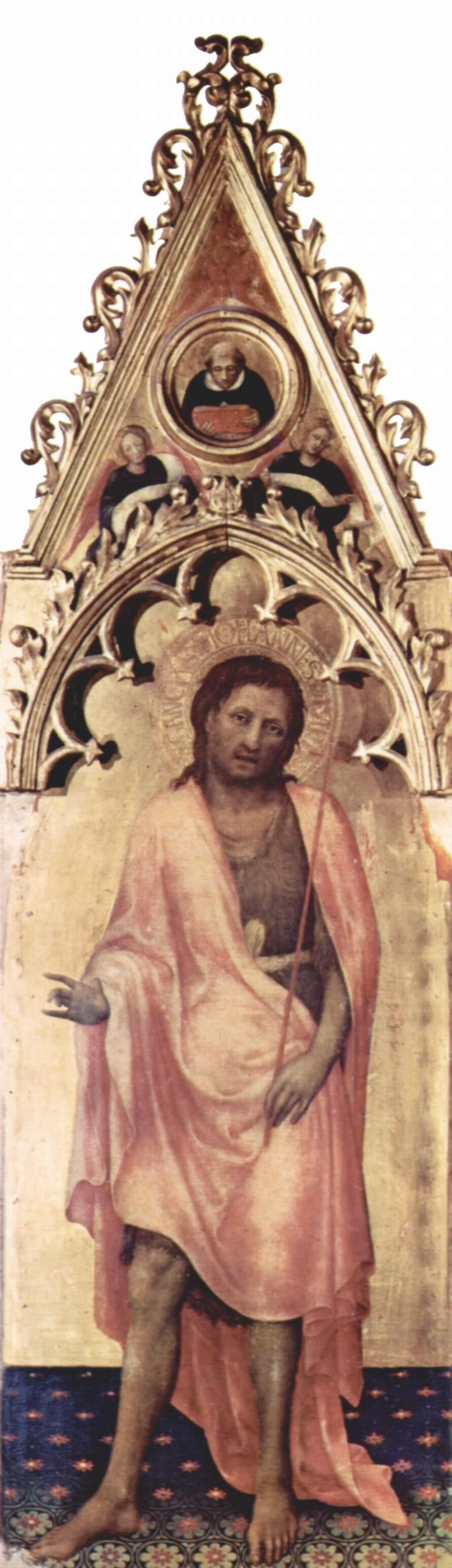 Полиптих Кваратези [10], боковая доска. Иоанн Креститель, Джентиле да Фабриано