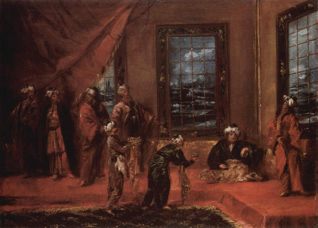 Султан принимает послов с дарами, Джованни Антонио Гварди