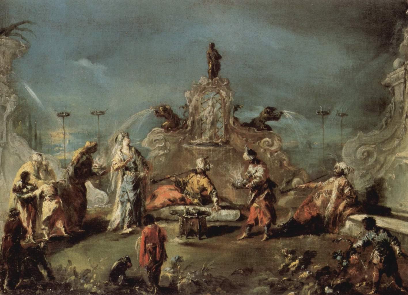 Сцена в саду сераля, Джованни Антонио Гварди