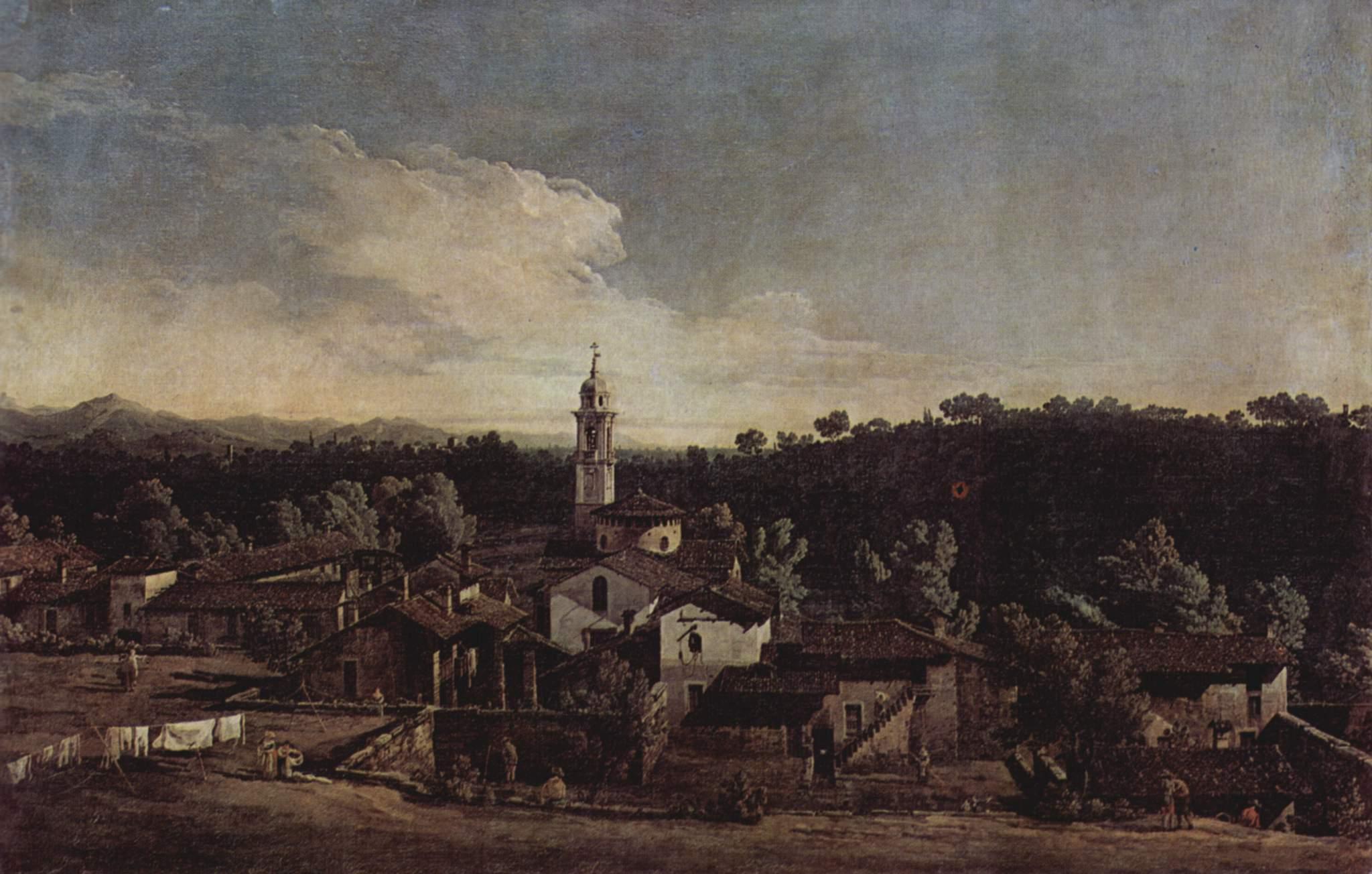 Вид деревни Гаццада с южной стороны, Джованни Антонио Каналетто 1