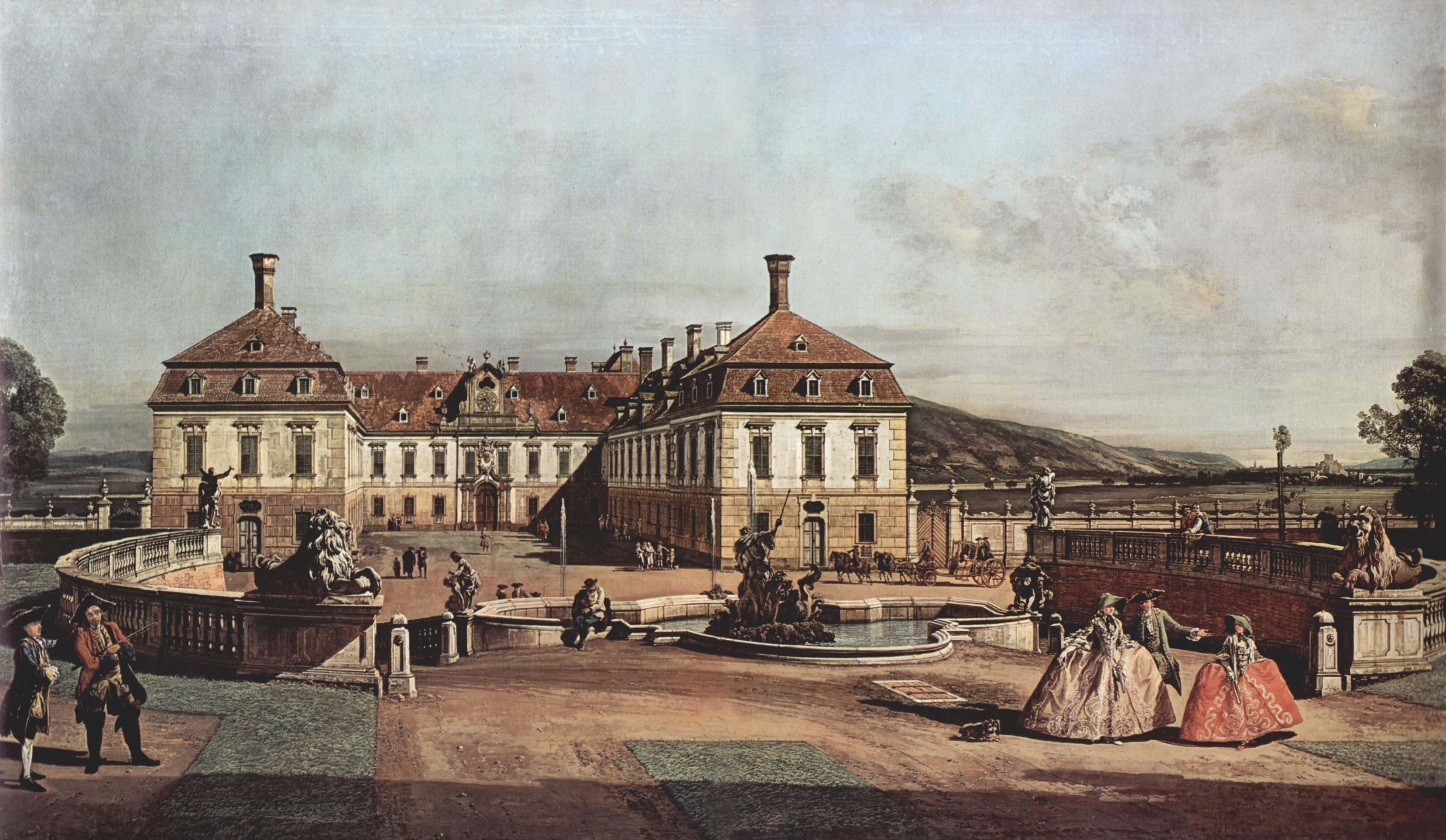 Вид Вены, замок, парадный двор, общий вид замка, Джованни Антонио Каналетто 1