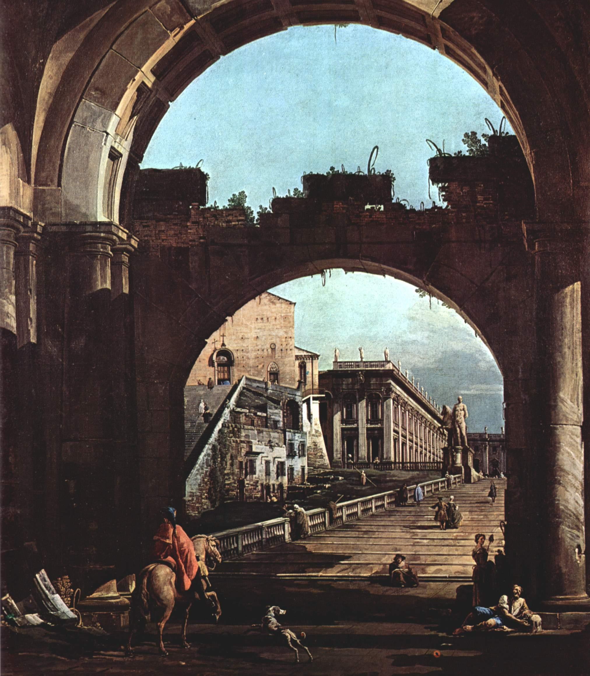 Римское каприччио, Капитолий, Джованни Антонио Каналетто 1