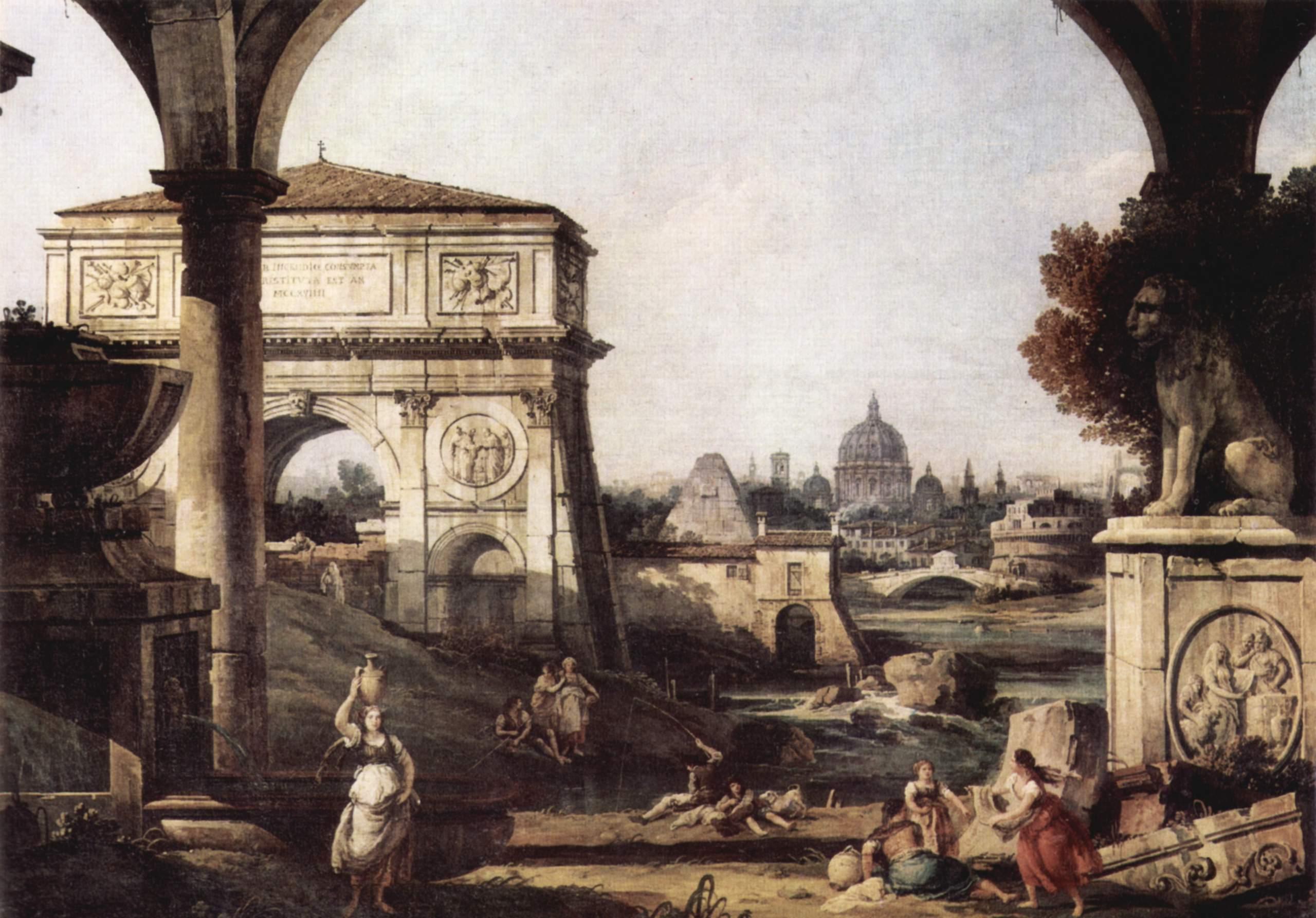Римское каприччио, арка Тита, Джованни Антонио Каналетто 1
