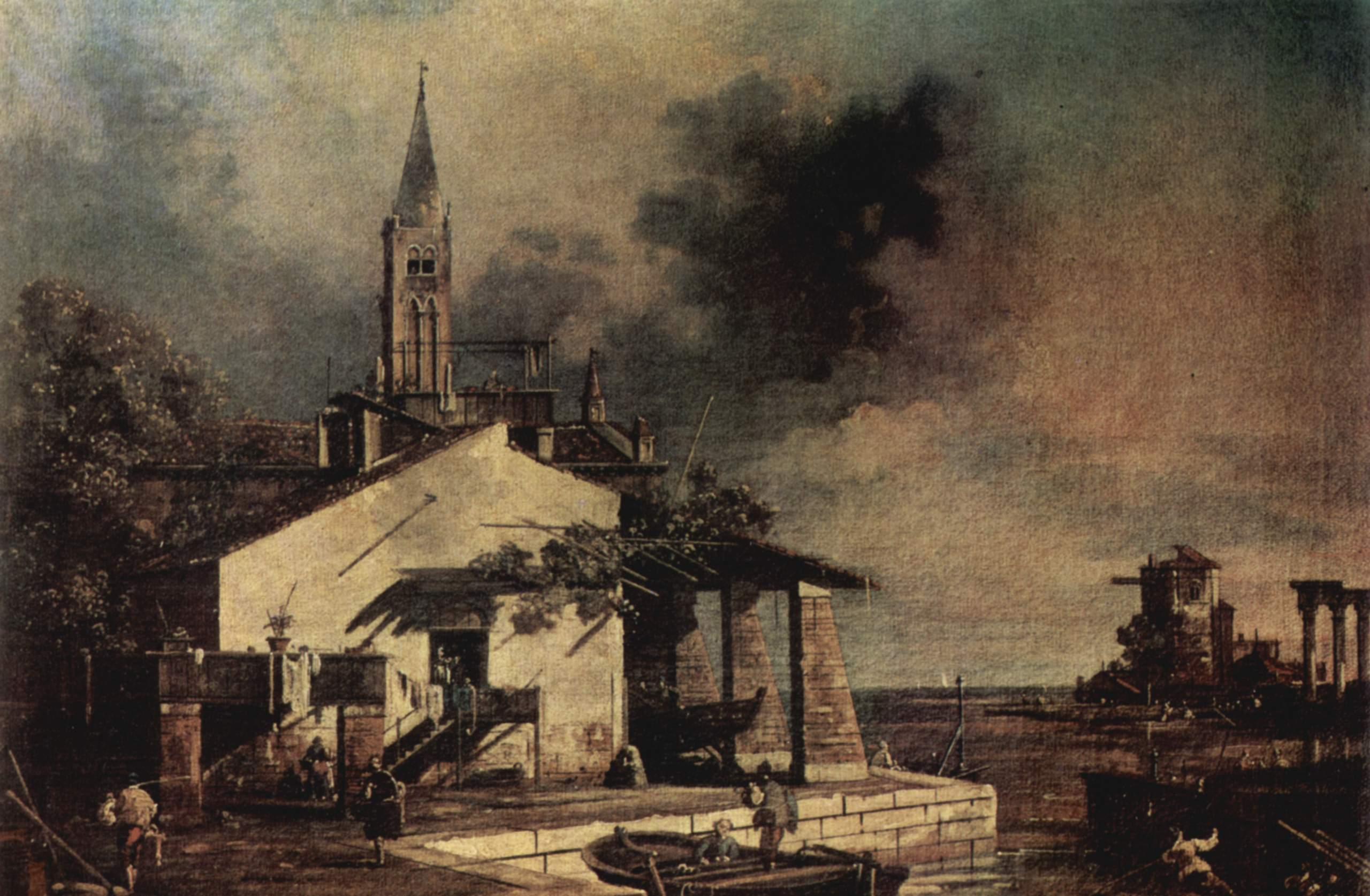 Вид на лагуну, Джованни Антонио Каналетто 1