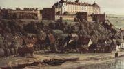 Вид Пирны, Пирна со стороны виноградников близ Просто, с крепостью Зонненшайн. Деталь