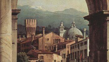 Римское каприччио, городские ворота и сторожевая башня. Деталь