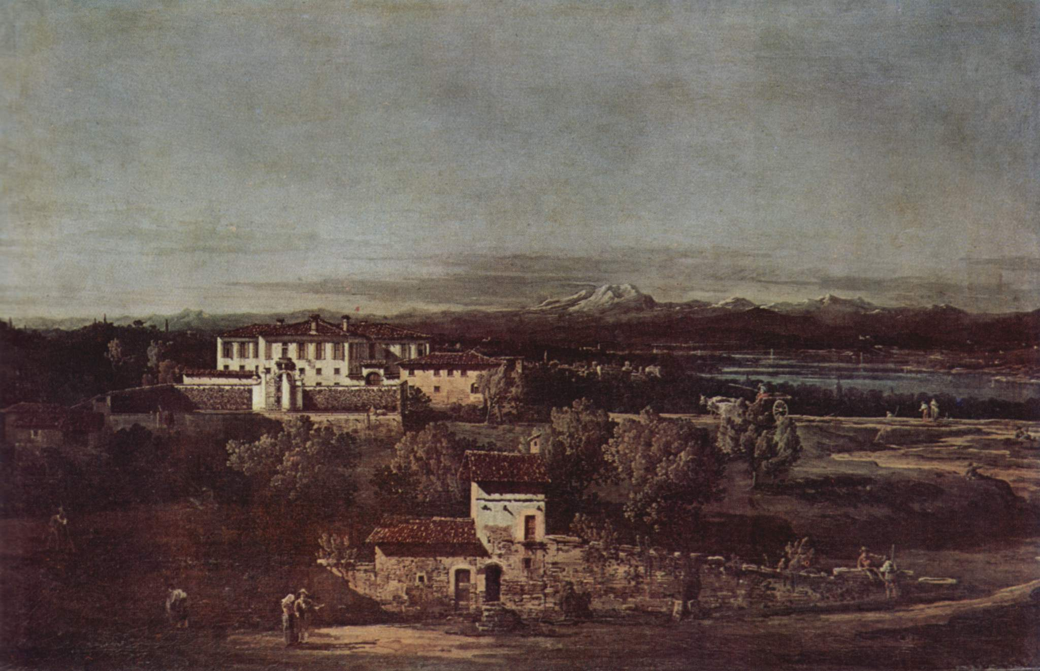 Деревня Гаццада, вид на виллу Мелци дЭрил с юго-востока, Джованни Антонио Каналетто 1