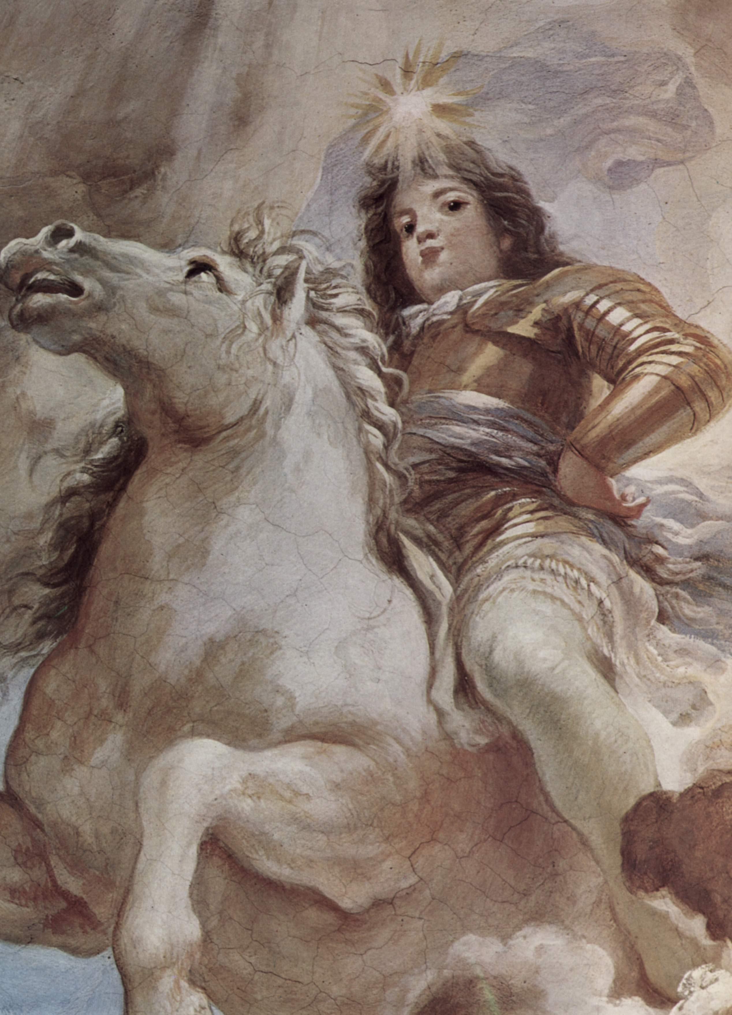 Триумф Медичи на облаках Олимпа. Фрагмент, Джордано Лука