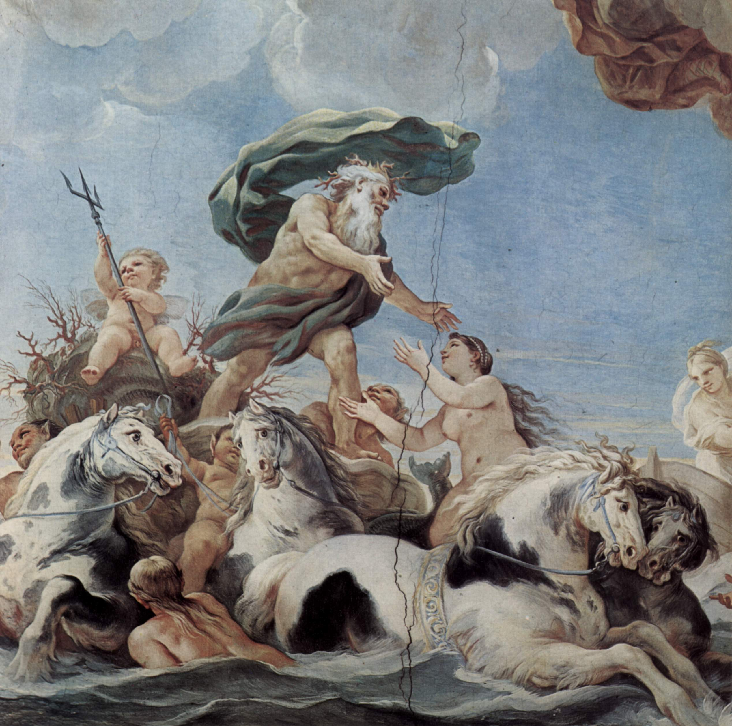 Триумфальная процессия Нептуна, Джордано Лука