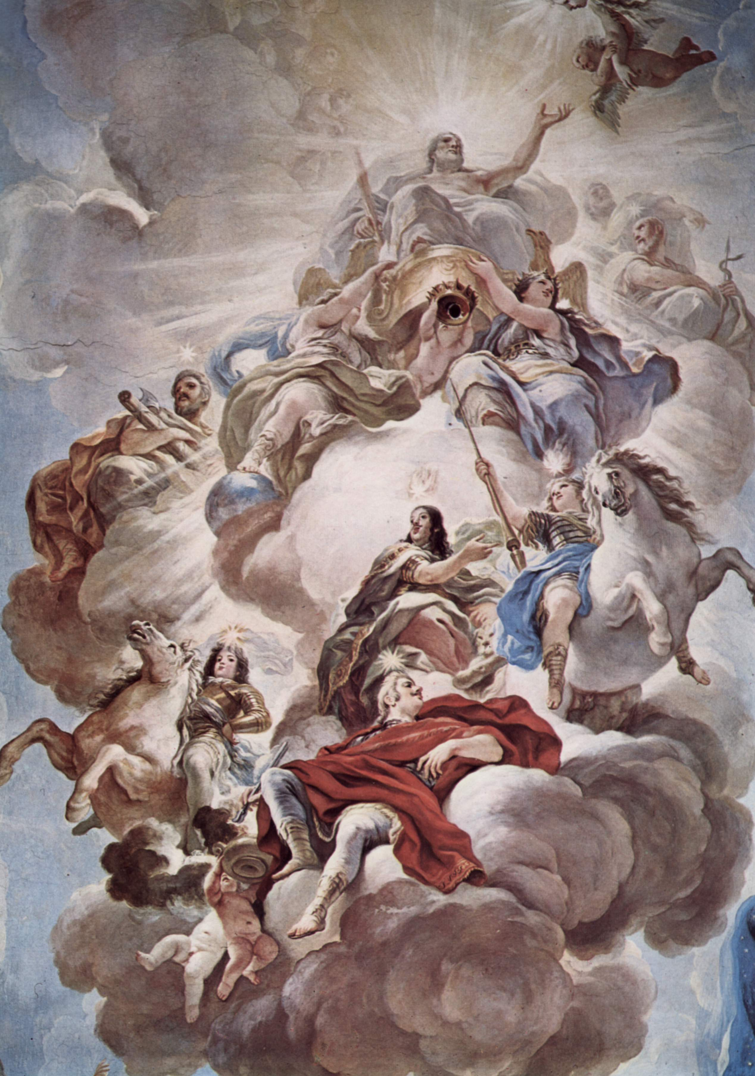 Триумф Медичи на облаках Олимпа, Джордано Лука