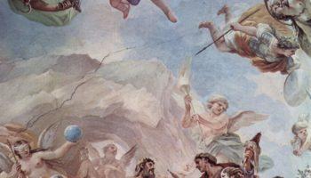 Фрески в галерее дворца Медичи-Риккарди во Флоренции. Сцена: Сотворение человека