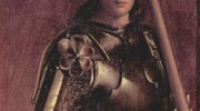 Алтарь Кастельфранко. Мадонна на троне со свв. Либералом из Тревизо и Франциском. Фрагмент. св. Либе