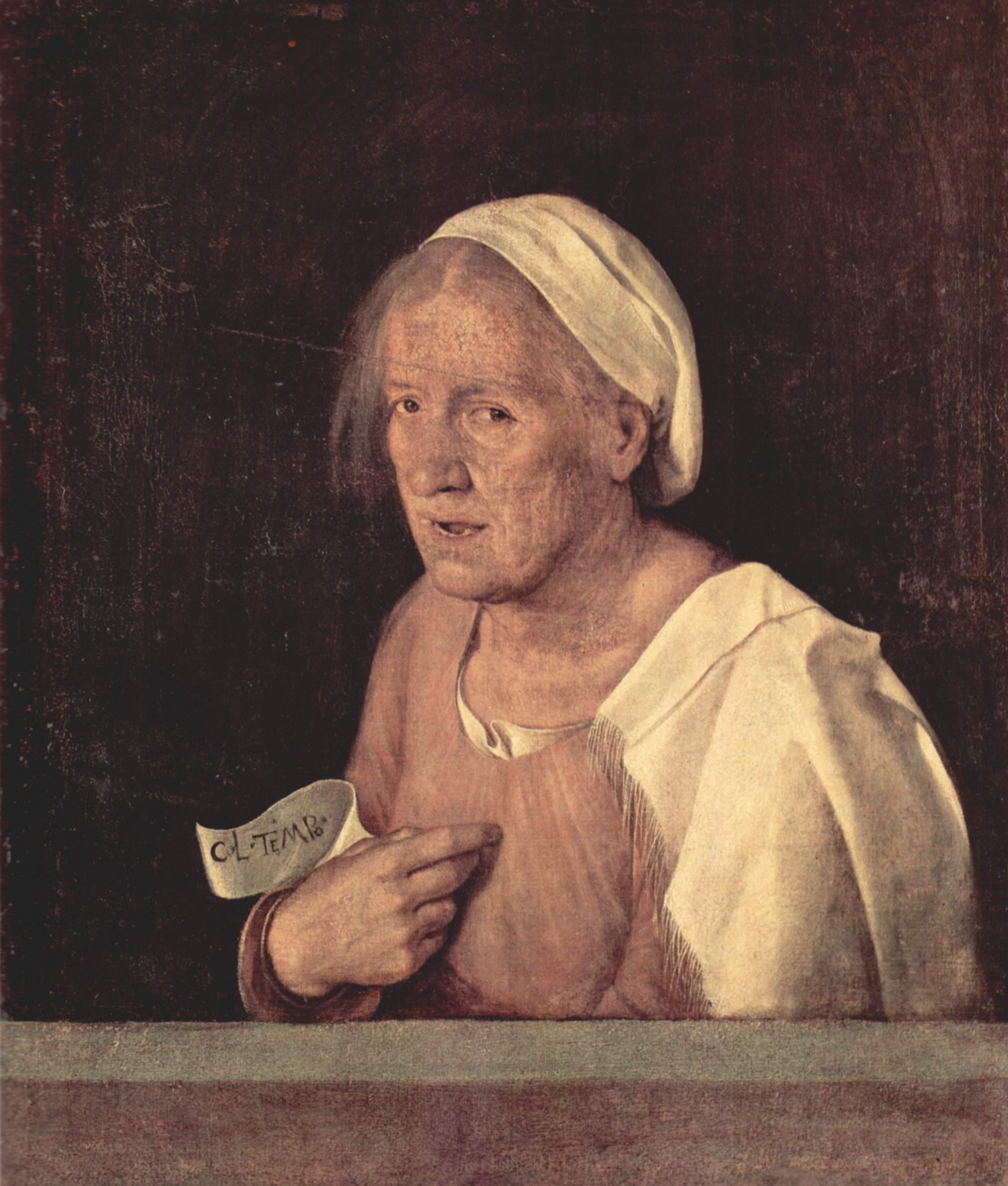 Портрет пожилой женщины, Джорджоне