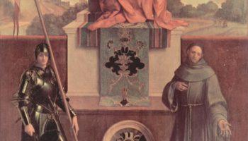 Алтарь Кастельфранко: Мадонна на троне со Святым Никазио и Святым Франциском