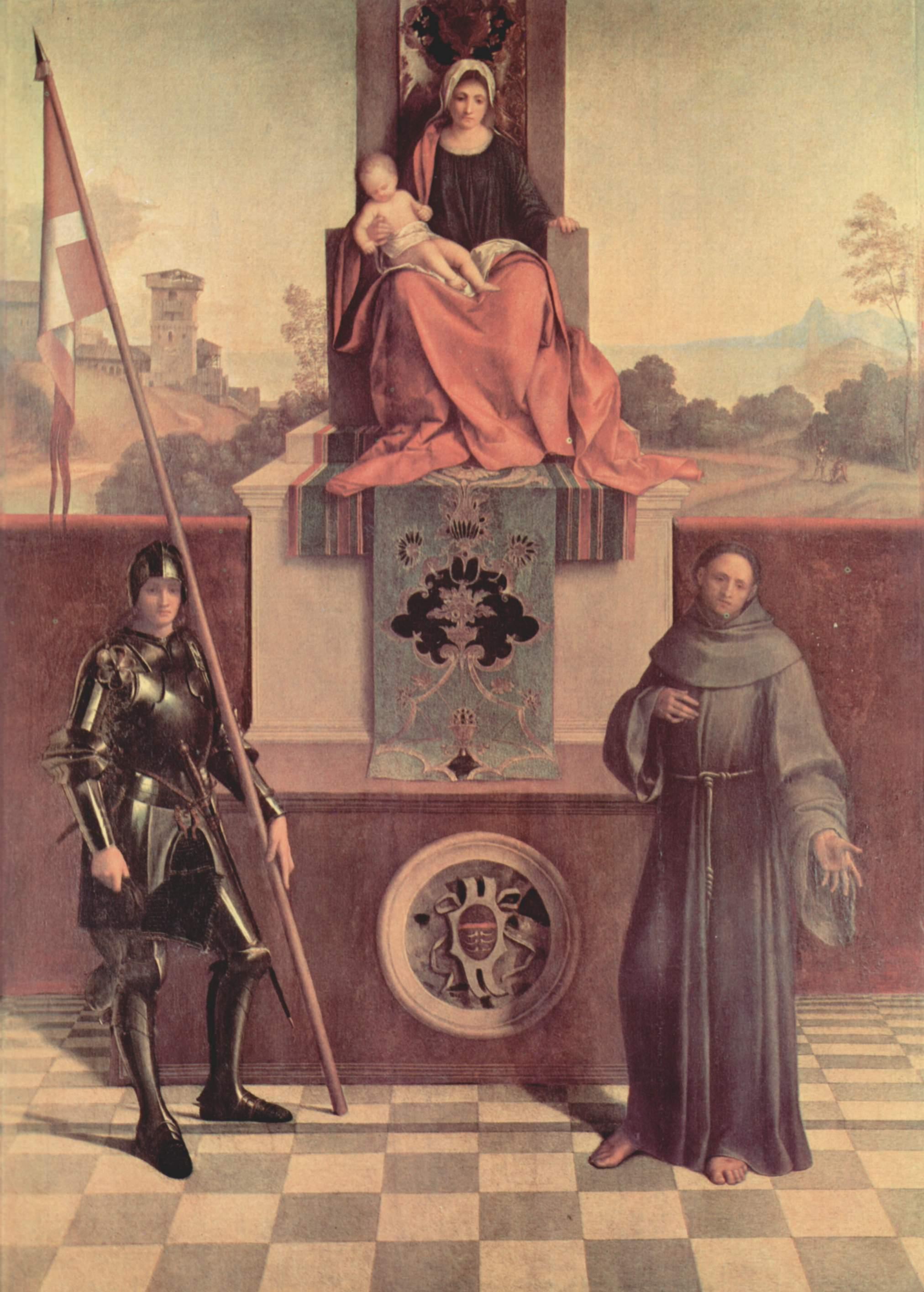 Алтарь Кастельфранко. Мадонна на троне со свв. Либералом из Тревизо и Франциском, Джорджоне