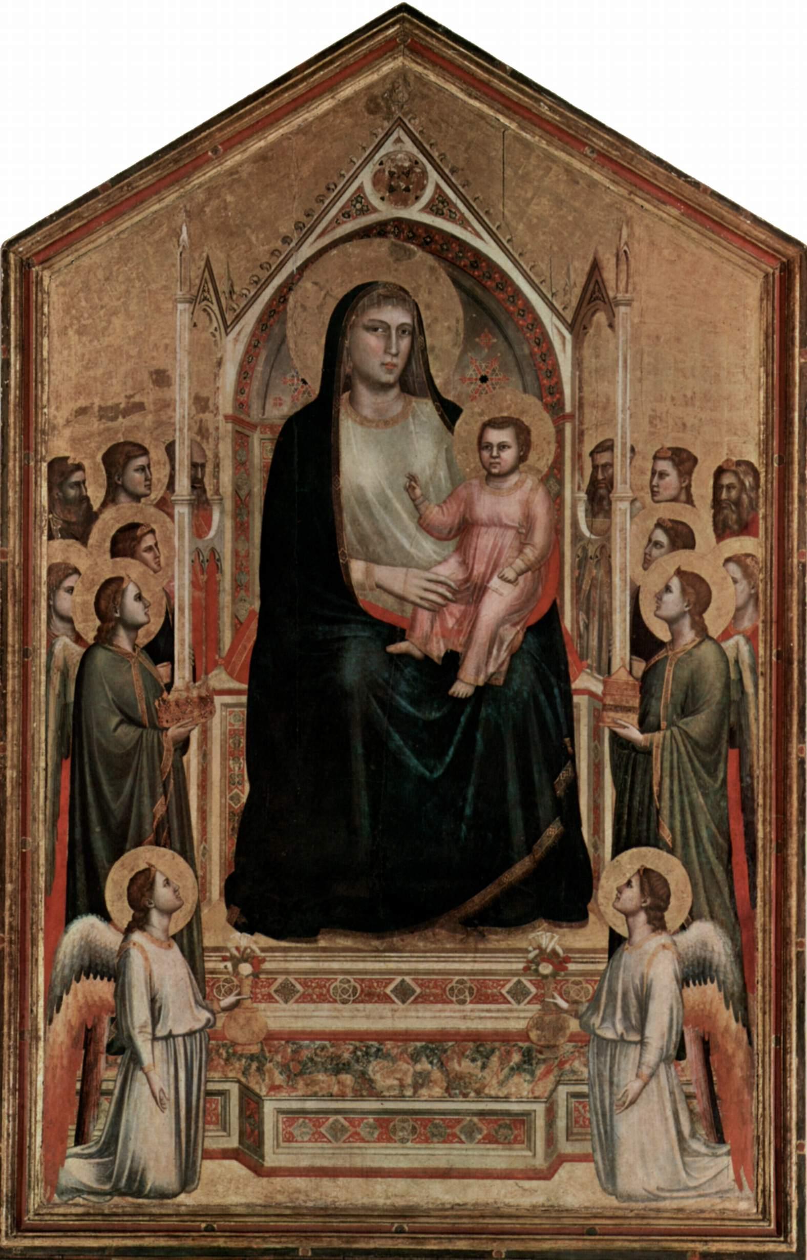 Богоматерь с младенцем на троне, Джотто ди Бондоне