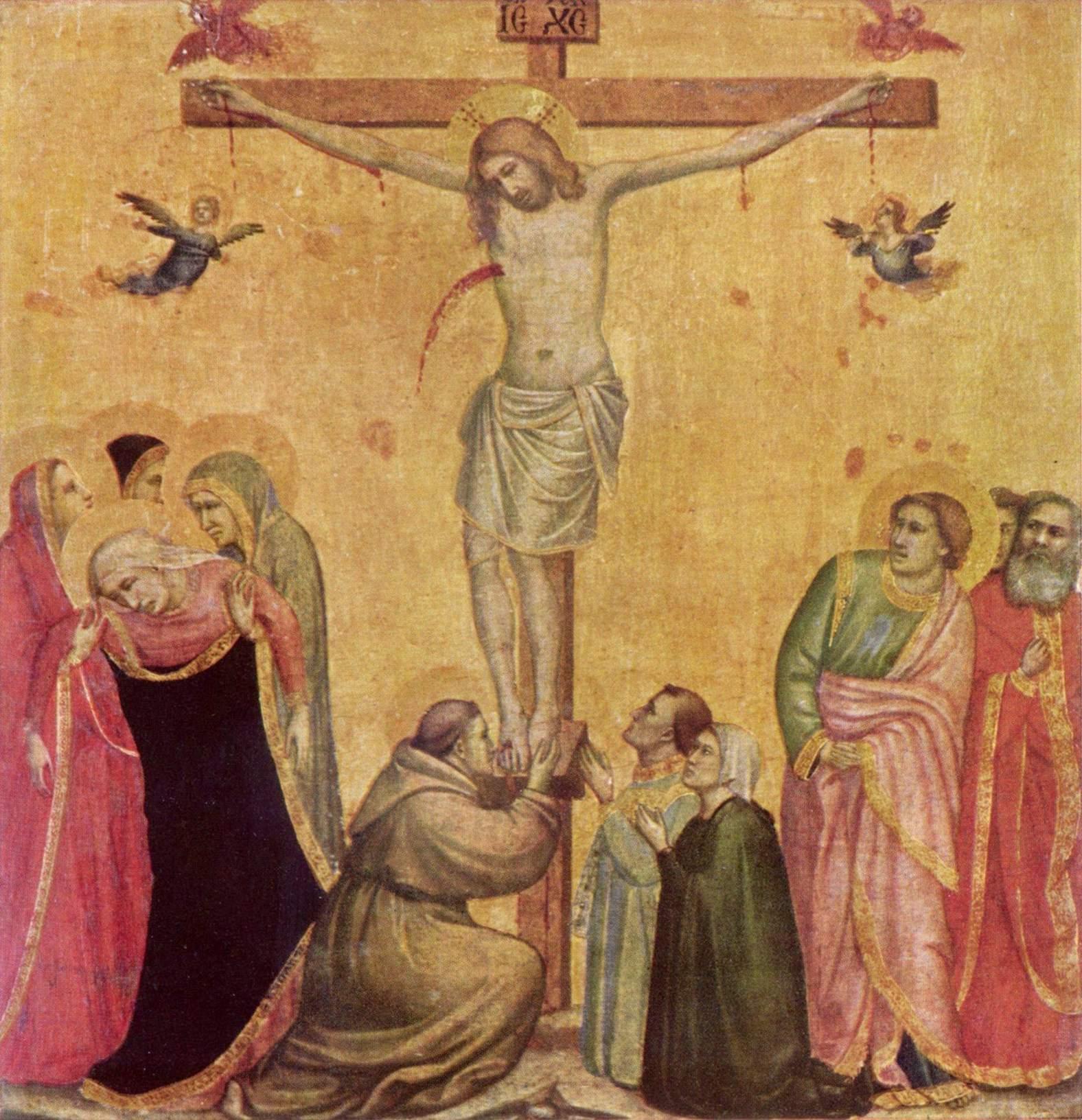 Распятие с Марией и Иоанном, Джотто ди Бондоне