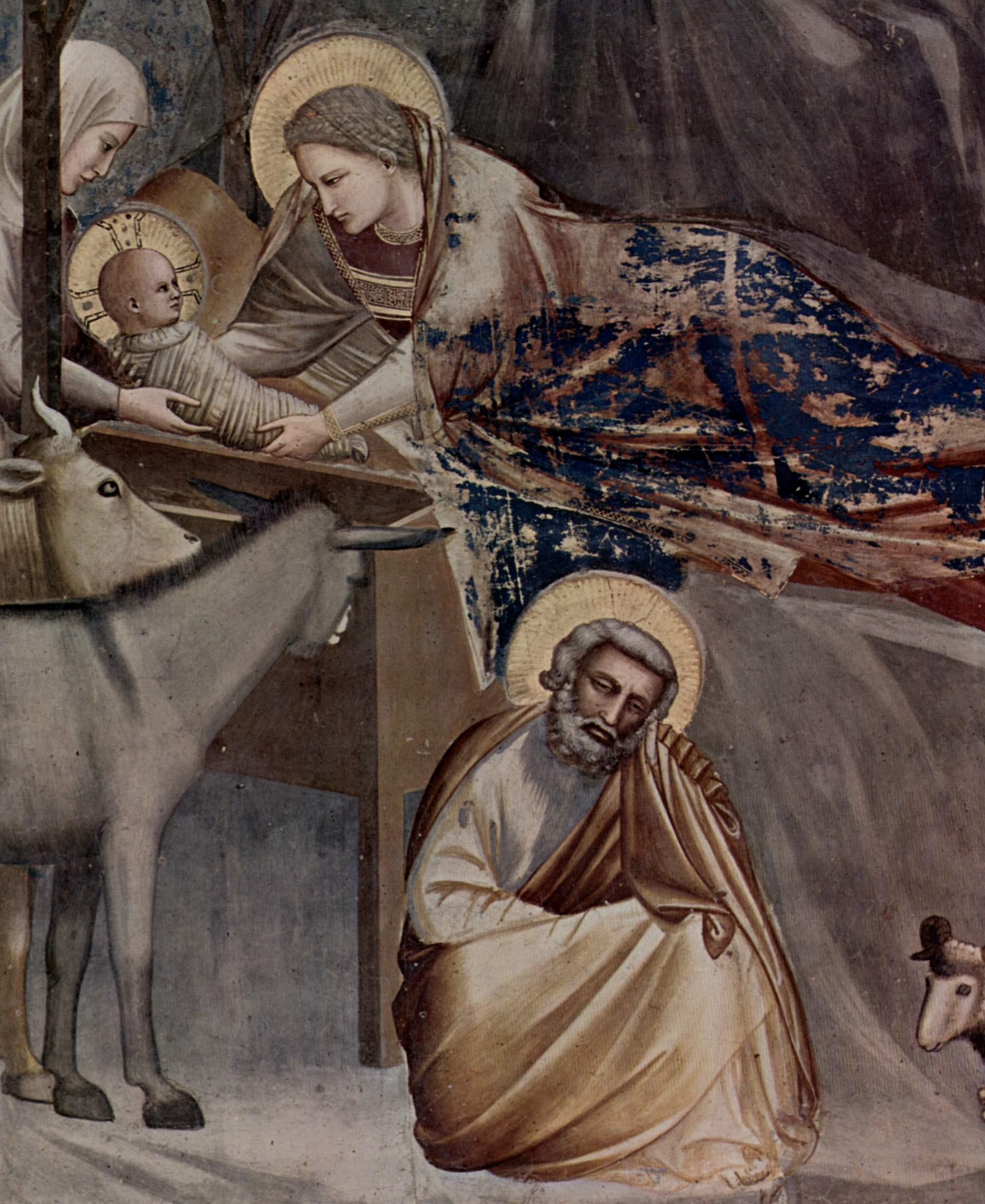 Цикл фресок капеллы Арена [08] в Падуе (капелла Скровеньи). Встреча у Золотых ворот. Фрагмент, Джотто ди Бондоне