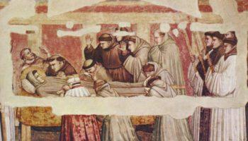 Смерть и вознесение Святого Франциска. Сцены из жизни святого Франциска