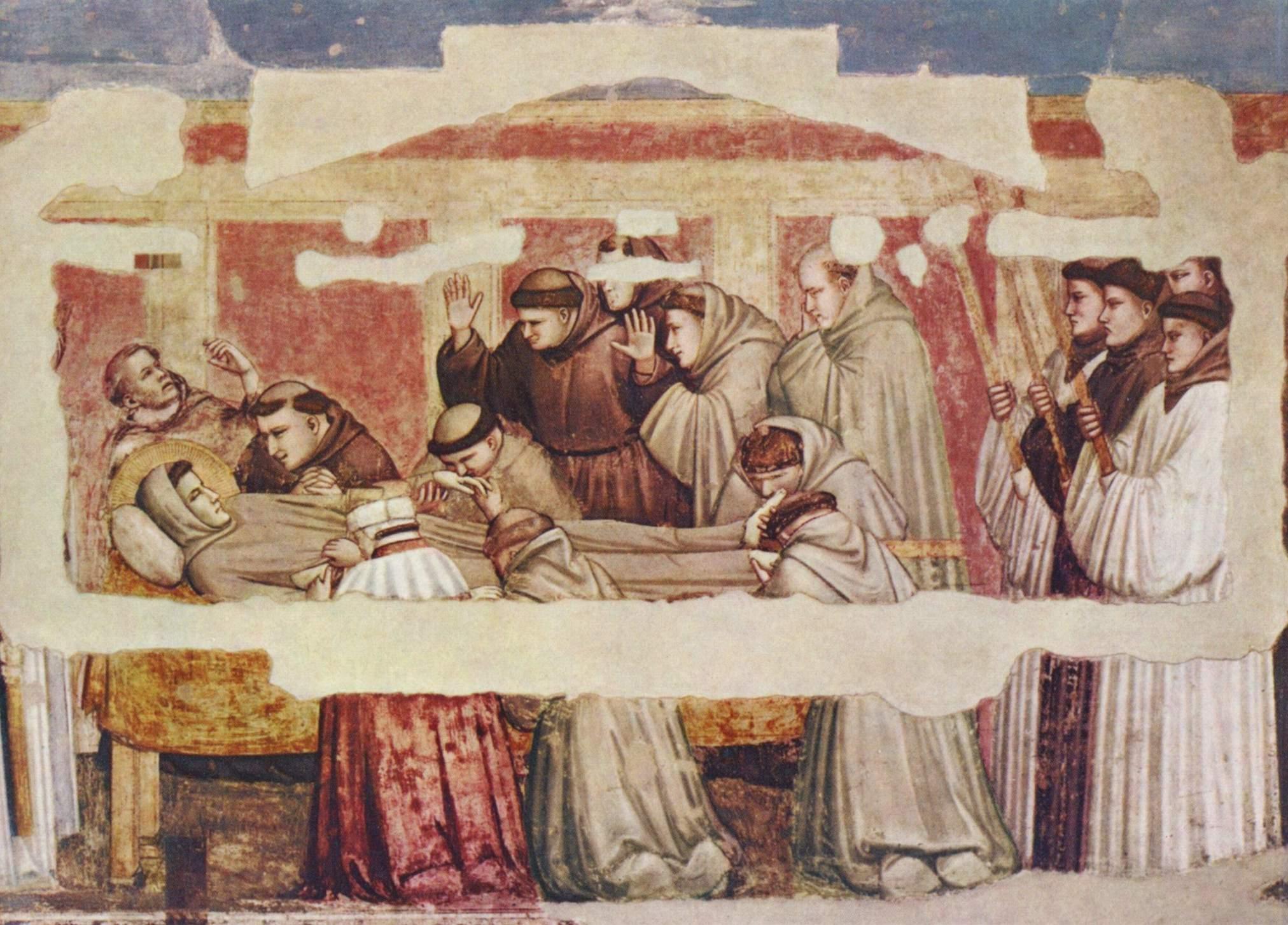 Цикл фресок из жизни св. Франциска, капелла Барди [11]. Санта Кроче во Флоренции. св. Клара из Ассиз, Джотто ди Бондоне