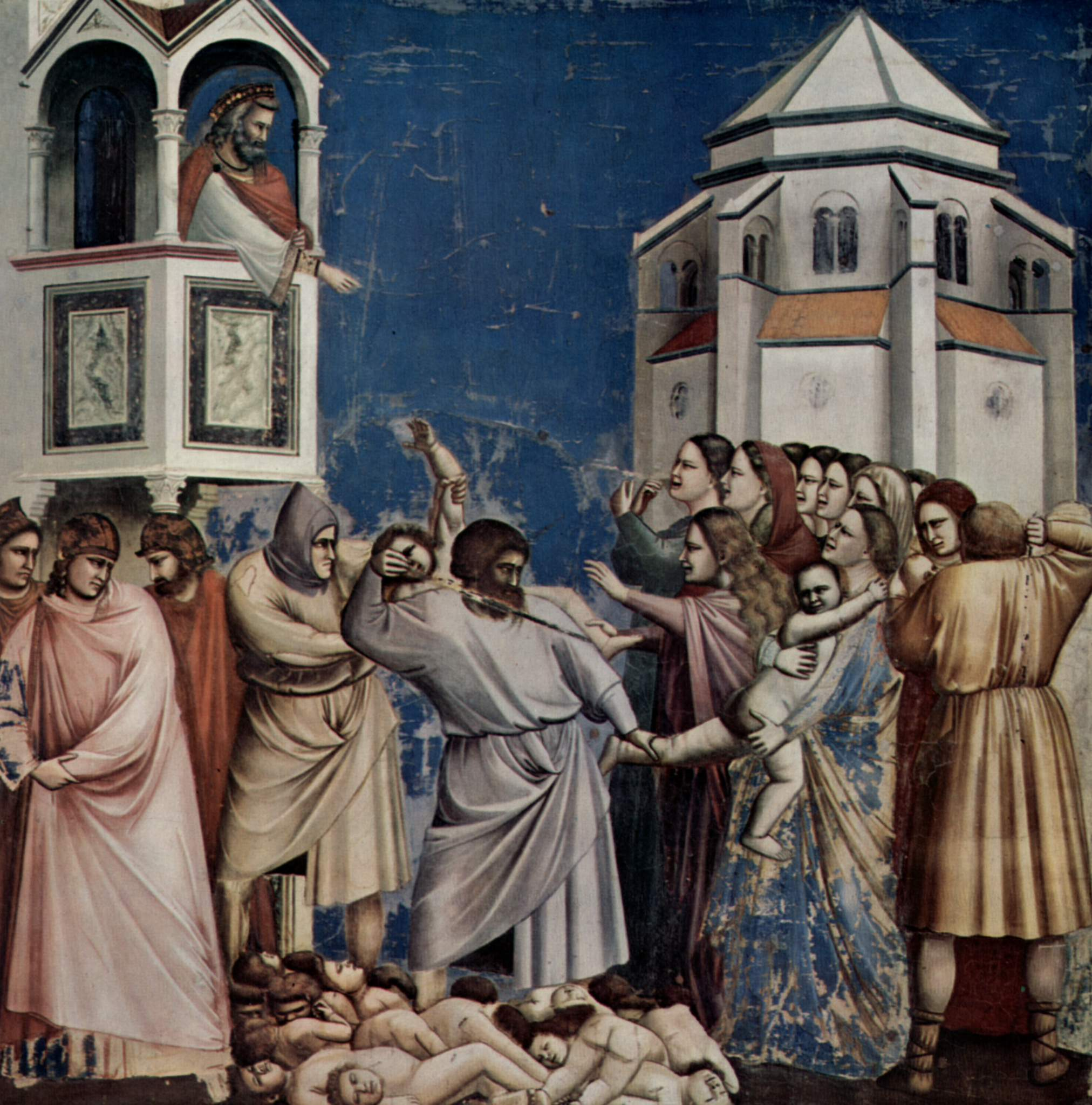 Цикл фресок капеллы Арена [11] в Падуе (капелла Скровеньи). Иоаким удаляется в пустыню, Джотто ди Бондоне