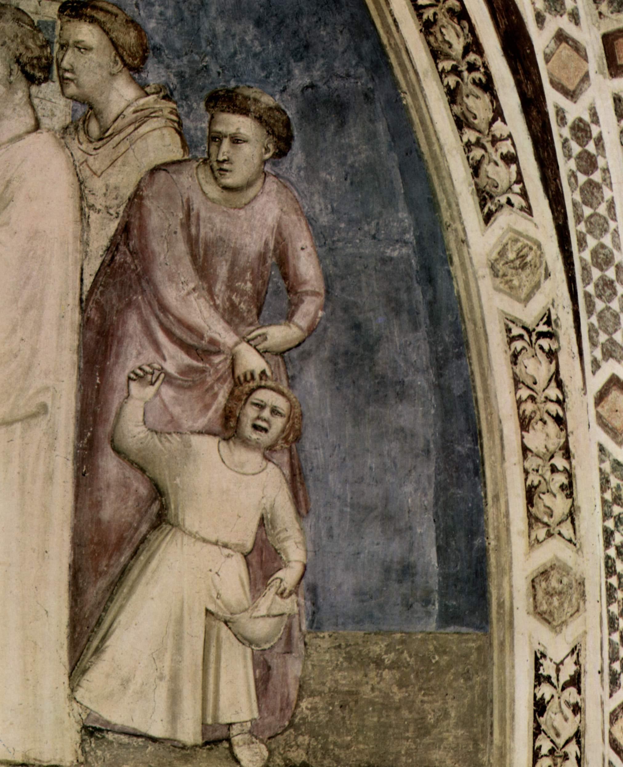 Цикл фресок из жизни св. Франциска, капелла Барди [03]. Санта Кроче во Флоренции. Обручение св. Фран, Джотто ди Бондоне