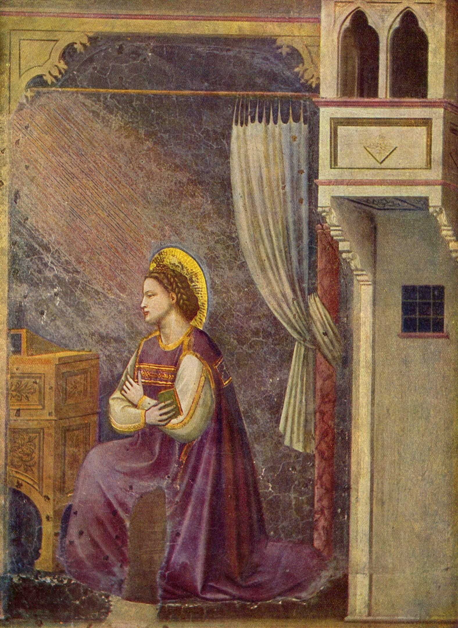Цикл фресок капеллы Арена [05] в Падуе (капелла Скровеньи). Введение Марии во храм, Джотто ди Бондоне