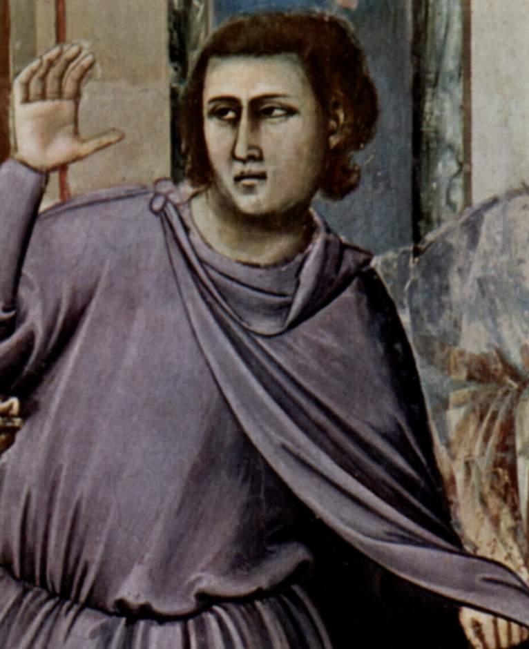 Цикл фресок капеллы Арена [16а] в Падуе (капелла Скровеньи). Изгнание торгующих из храма. Фрагмент, Джотто ди Бондоне
