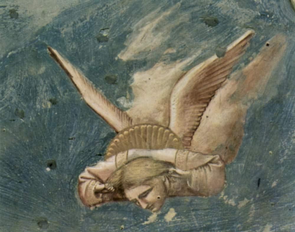 Цикл фресок капеллы Арена [27] в Падуе (капелла Скровеньи). Оплакивание Христа. Фрагмент. Скорбящий, Джотто ди Бондоне