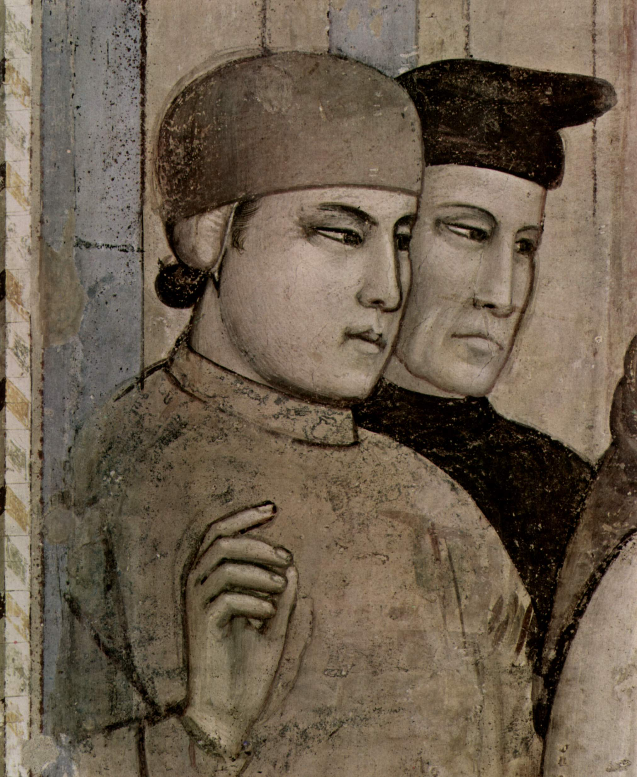 Цикл фресок из жизни св. Франциска, капелла Барди [07]. Санта Кроче во Флоренции. Подтверждение стиг, Джотто ди Бондоне