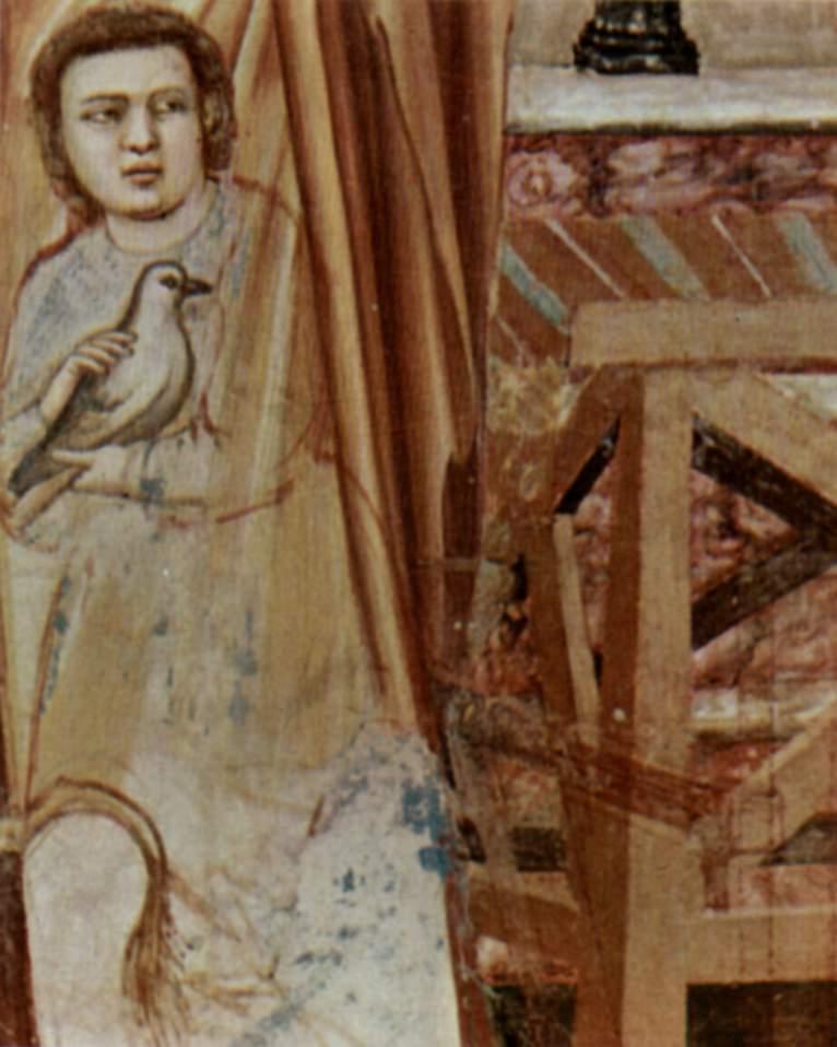 Цикл фресок капеллы Арена [17] в Падуе (капелла Скровеньи). Изгнание торгующих из храма. Фрагмент, Джотто ди Бондоне
