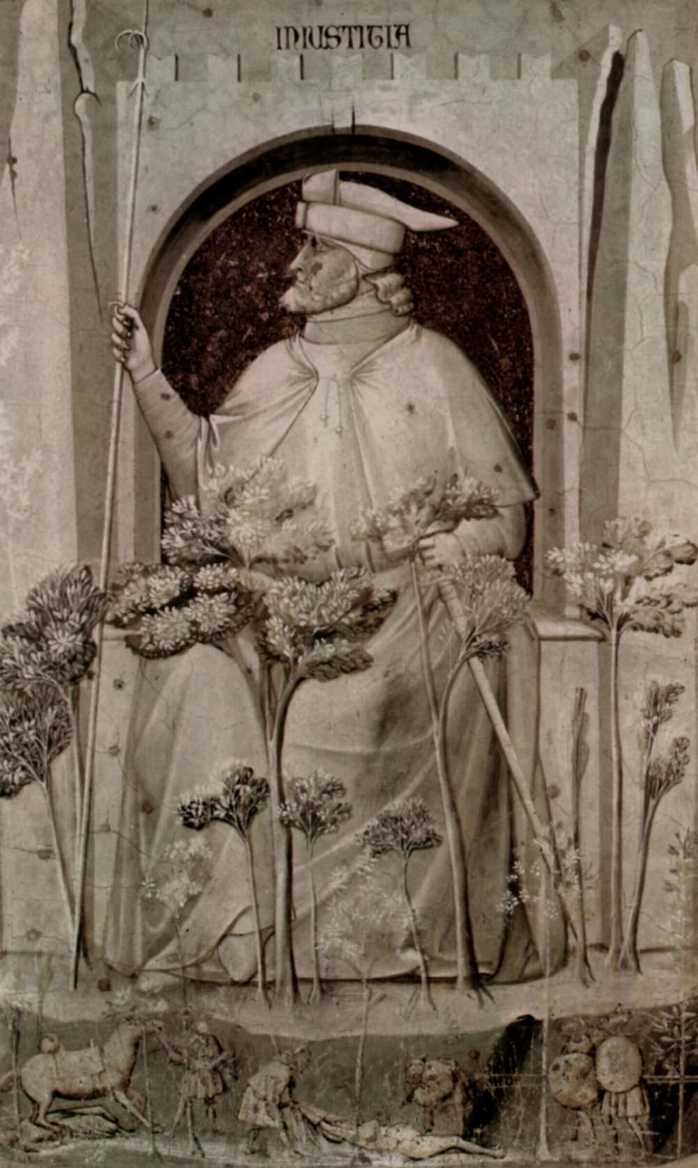 Цикл фресок капеллы Арена [01] в Падуе (капелла Скровеньи). Аллегория Справедливости (Правосудие), Джотто ди Бондоне