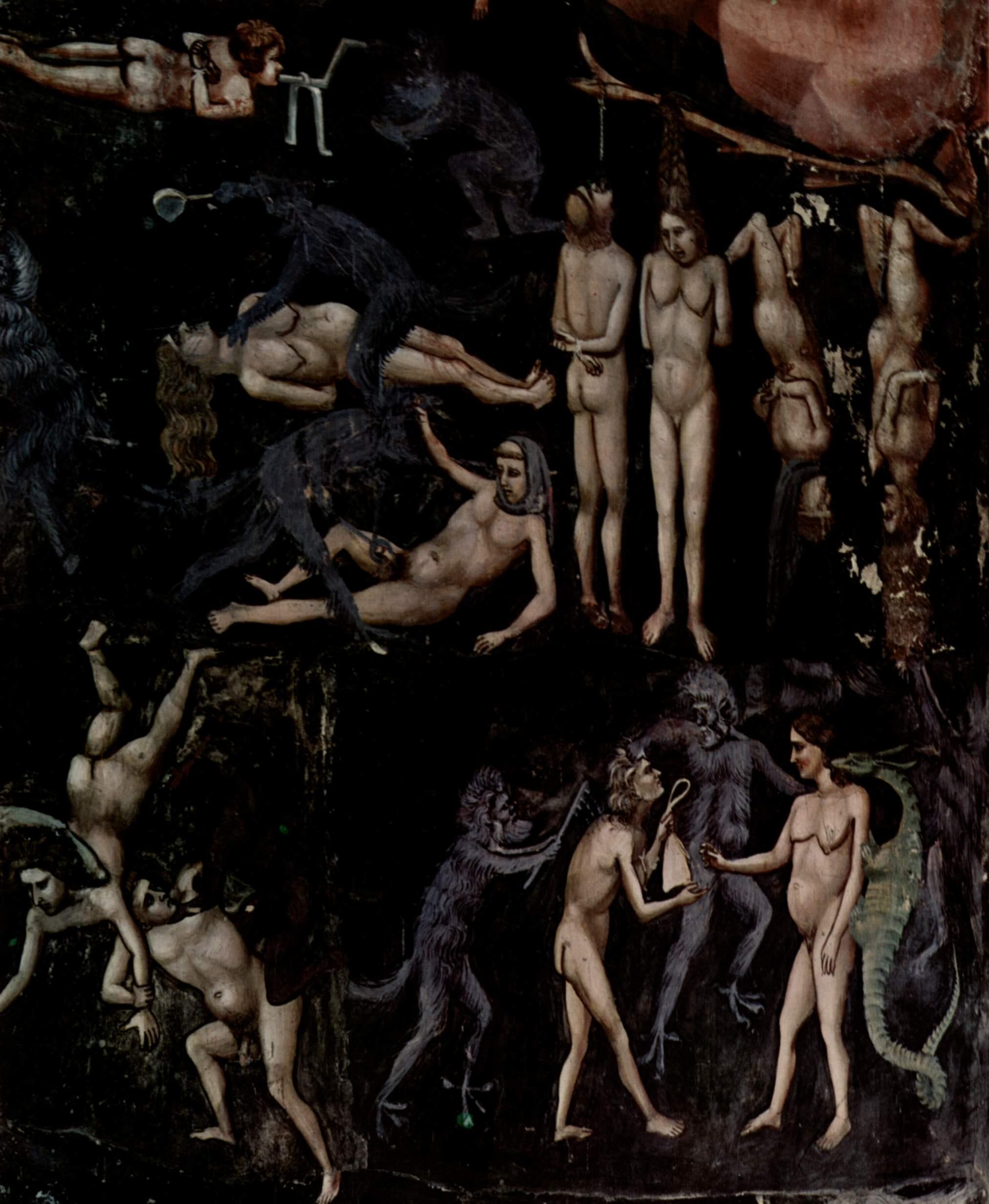 Цикл фресок капеллы Арена [34] в Падуе (капелла Скровеньи). Страшный суд. Фрагмент, Джотто ди Бондоне