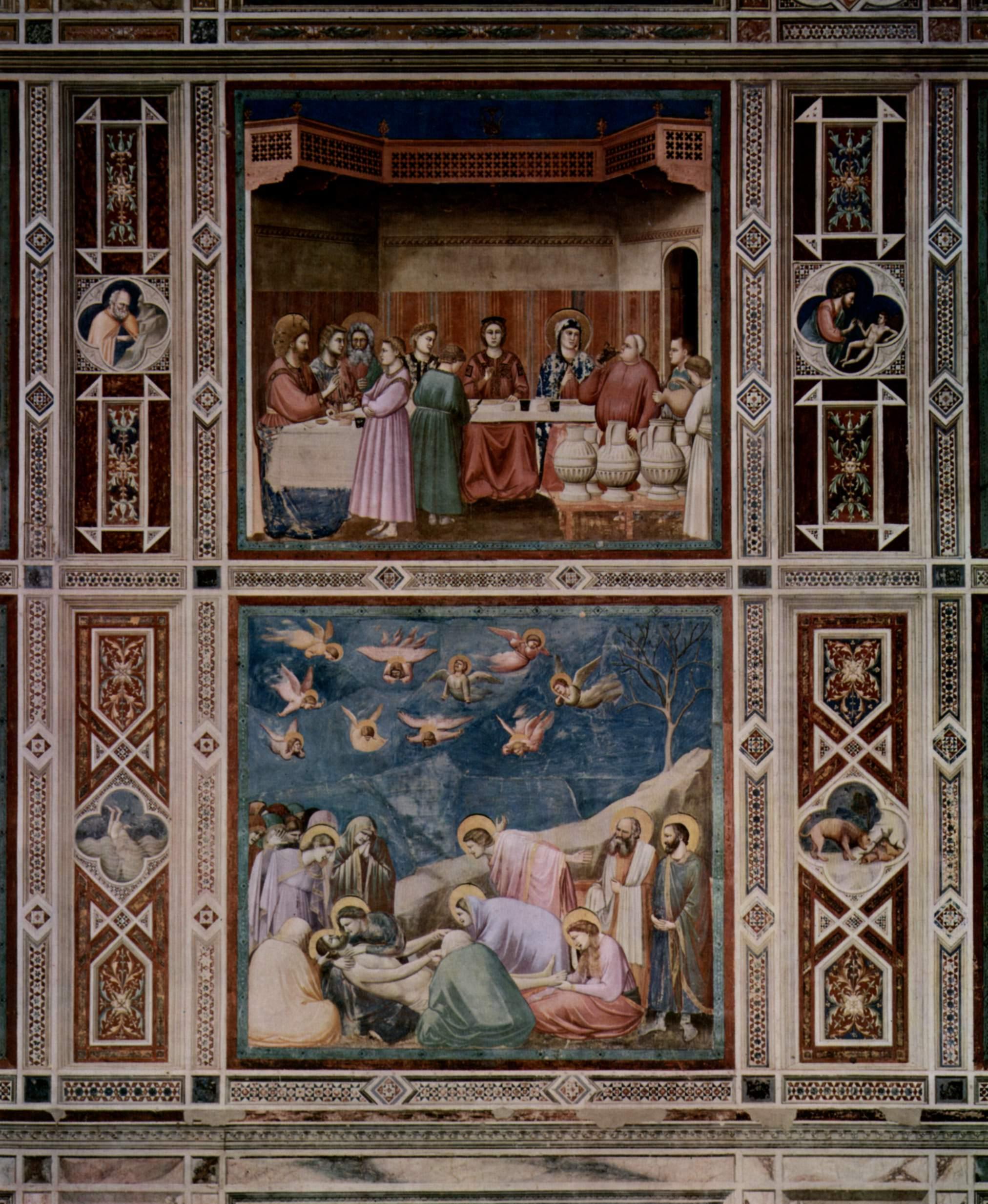 Цикл фресок капеллы Арена [21] в Падуе (капелла Скровеньи). Воскрешение Лазаря, Джотто ди Бондоне