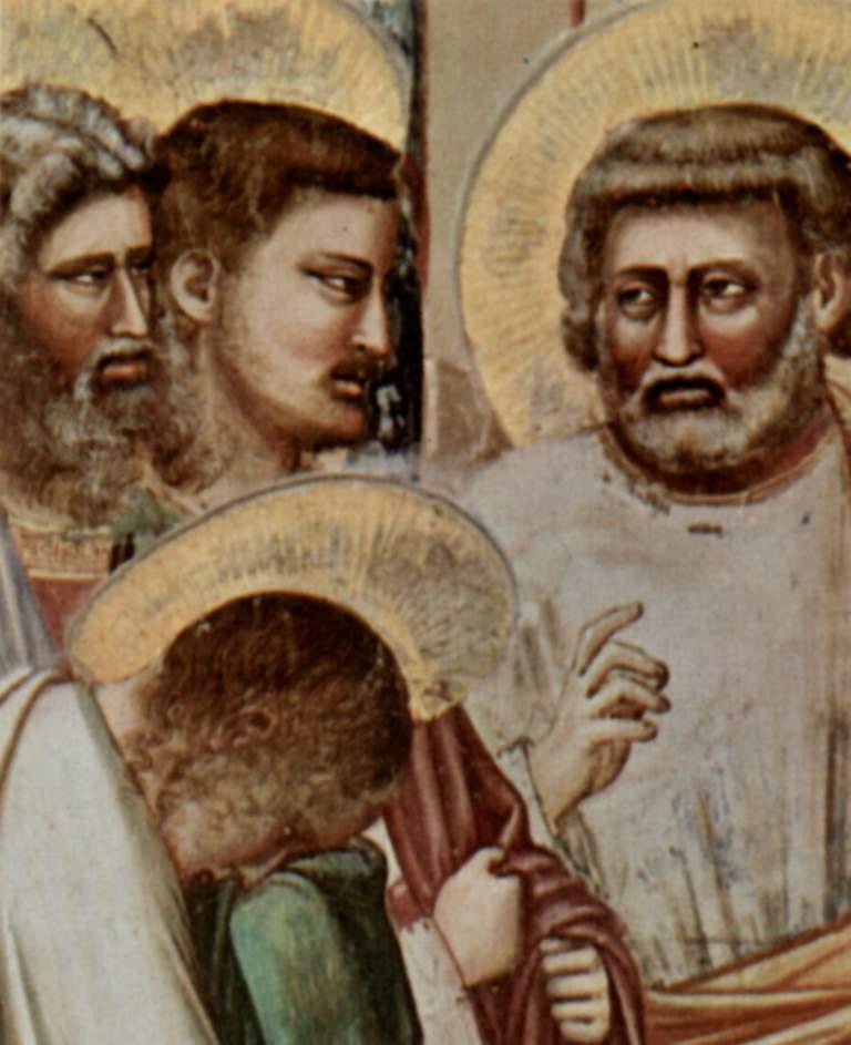Цикл фресок капеллы Арена [16] в Падуе (капелла Скровеньи). Изгнание торгующих из храма. Фрагмент, Джотто ди Бондоне