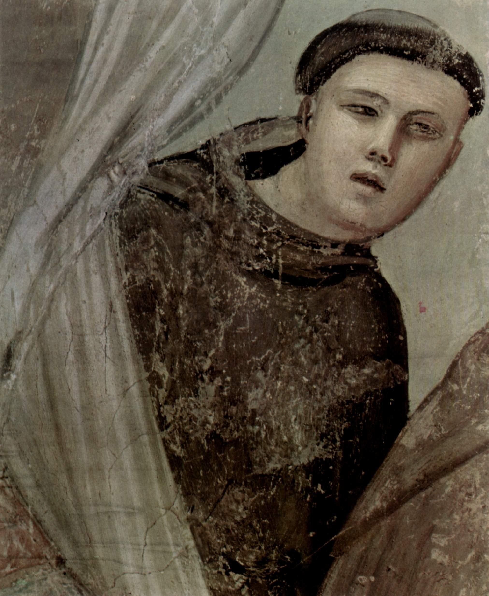 Цикл фресок из жизни св. Франциска, капелла Барди [08]. Санта Кроче во Флоренции. Подтверждение стиг, Джотто ди Бондоне