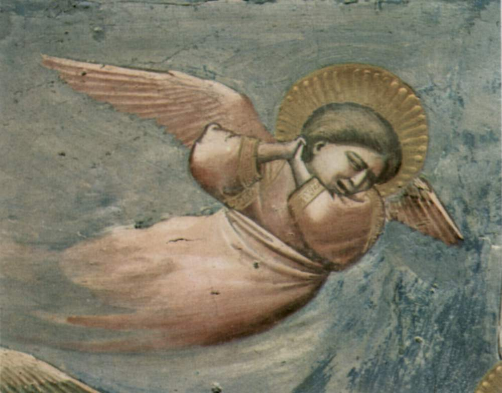 Цикл фресок капеллы Арена [26] в Падуе (капелла Скровеньи). Оплакивание Христа. Фрагмент. Скорбящий, Джотто ди Бондоне