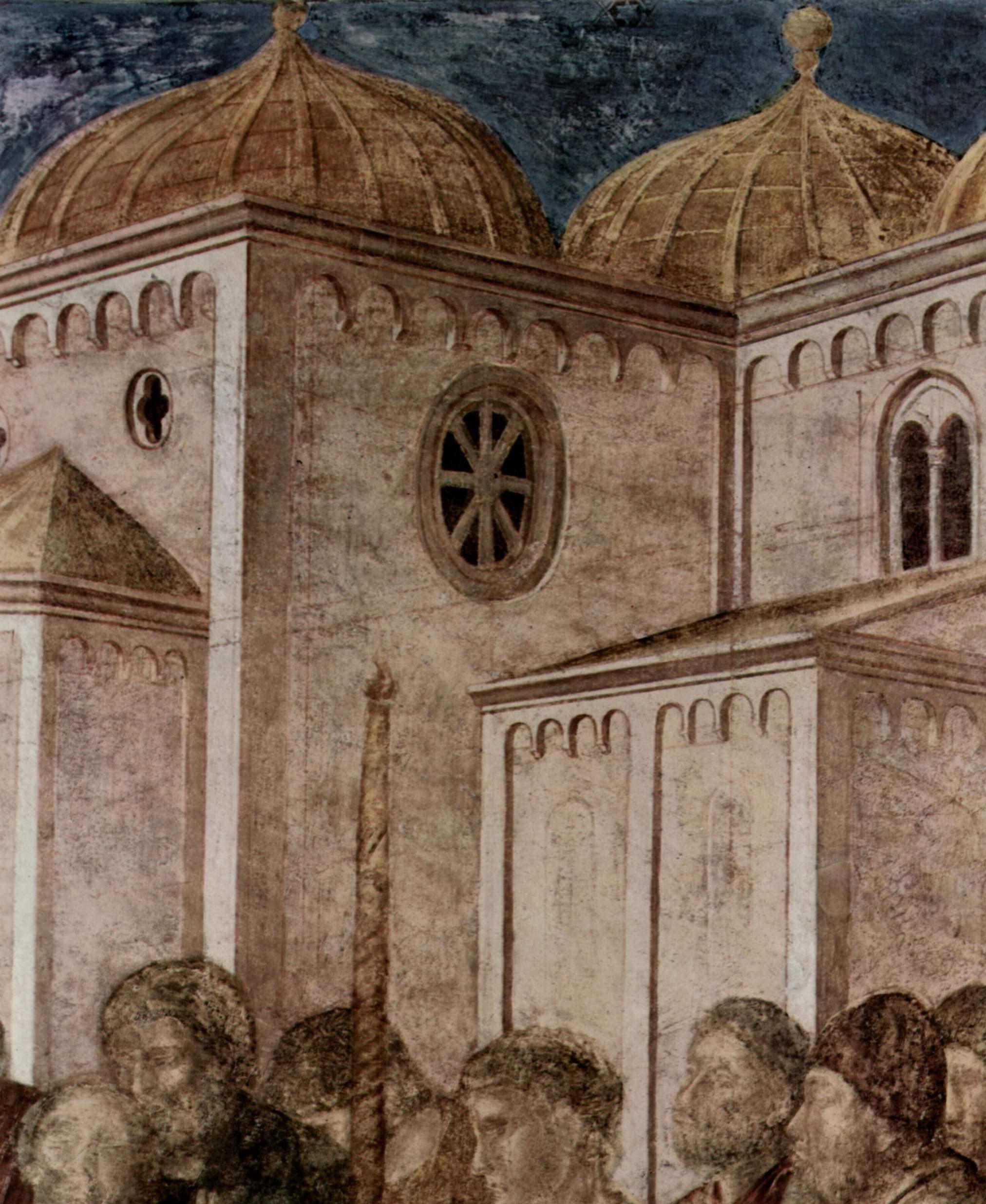 Цикл фресок капеллы Перуцци [08]. Санта Кроче во Флоренции. Евангелист Иоанн воскрешает Друзиану. Фр, Джотто ди Бондоне