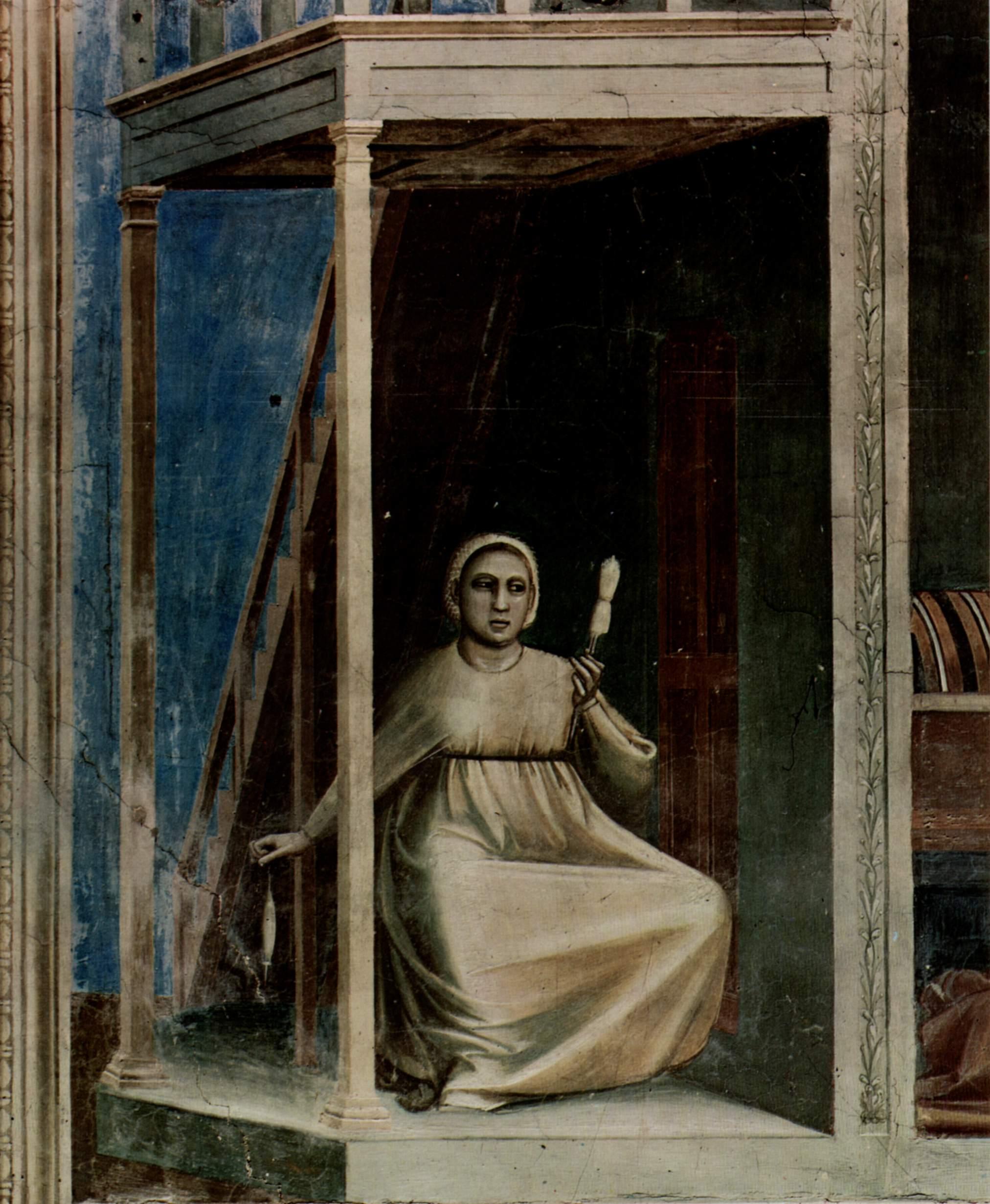 Цикл фресок капеллы Арена [02] в Падуе (капелла Скровеньи). Аллегория Неправосудия, Джотто ди Бондоне