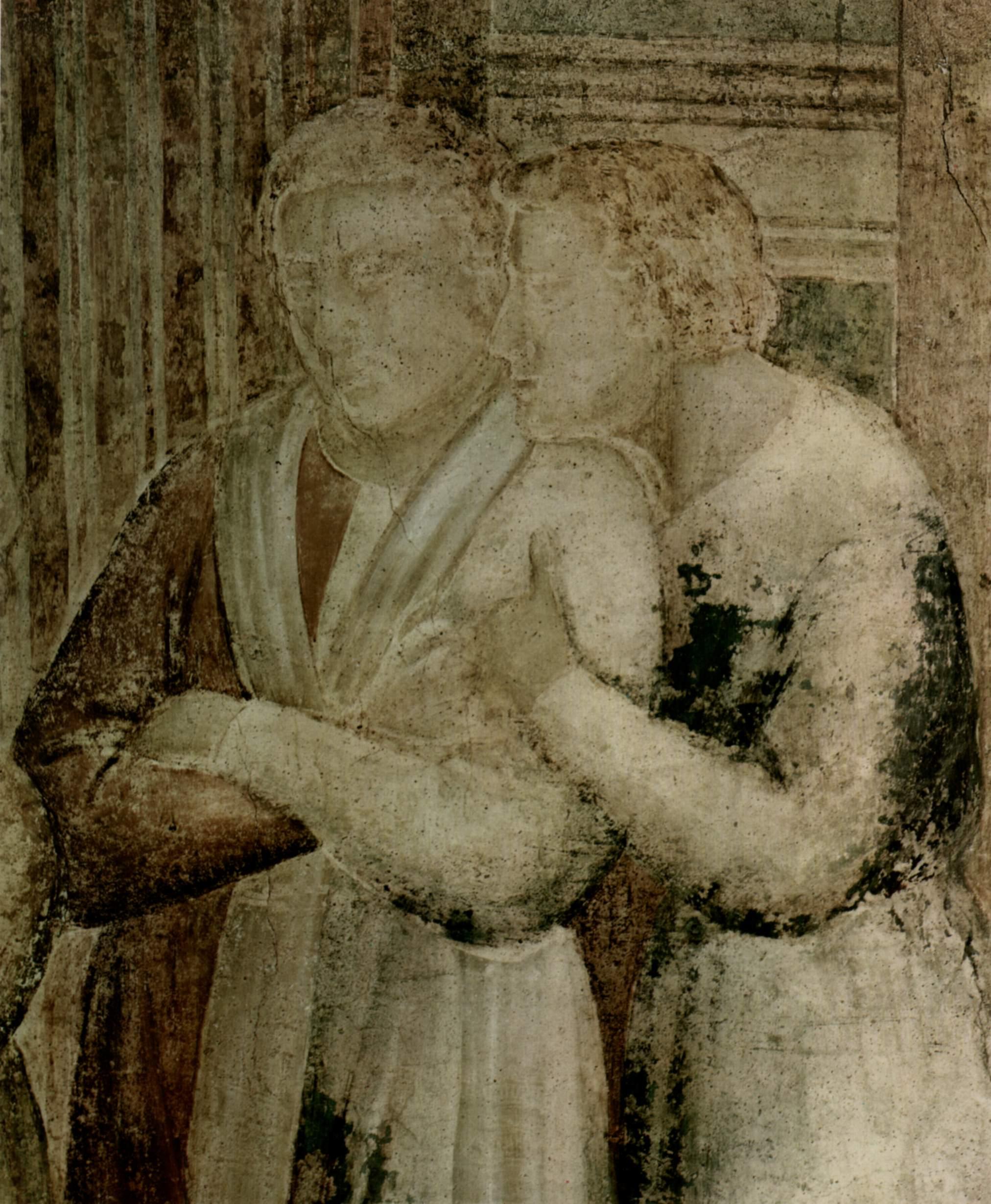 Цикл фресок капеллы Перуцци [04]. Санта Кроче во Флоренции. Пир Ирода. Фрагмент, Джотто ди Бондоне
