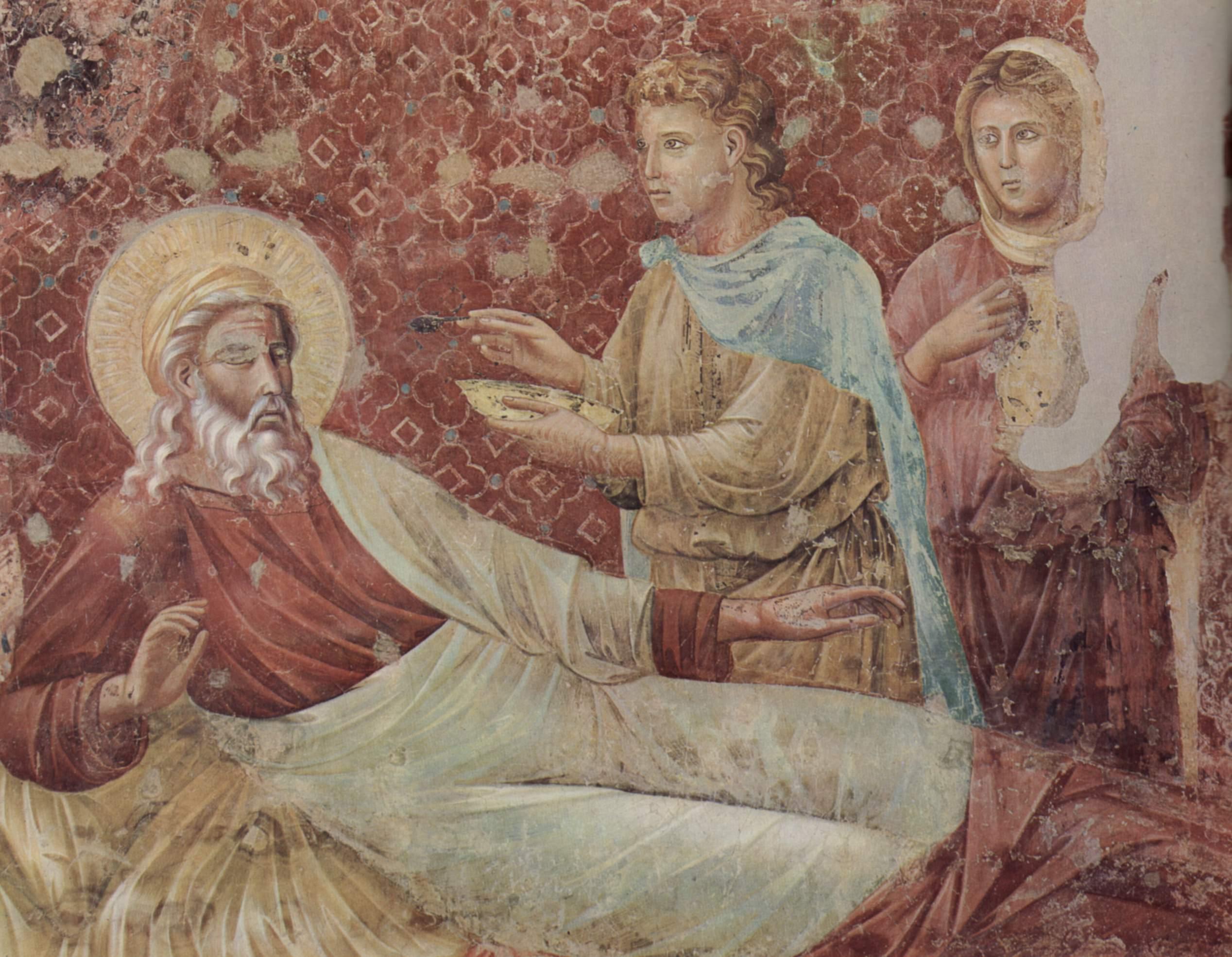Цикл фресок о жизни св. Франциска Ассизского. Исаак отвергает Исава, Джотто ди Бондоне